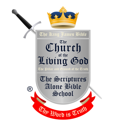 THE SCRIPTURES ALONE BIBLE SCHOOL Pastor Martin Richling Where The Holy Scriptures Are Taught Aright®